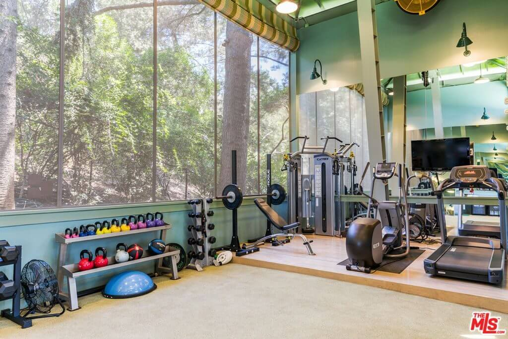 Katy Perry house gym on Mulholland