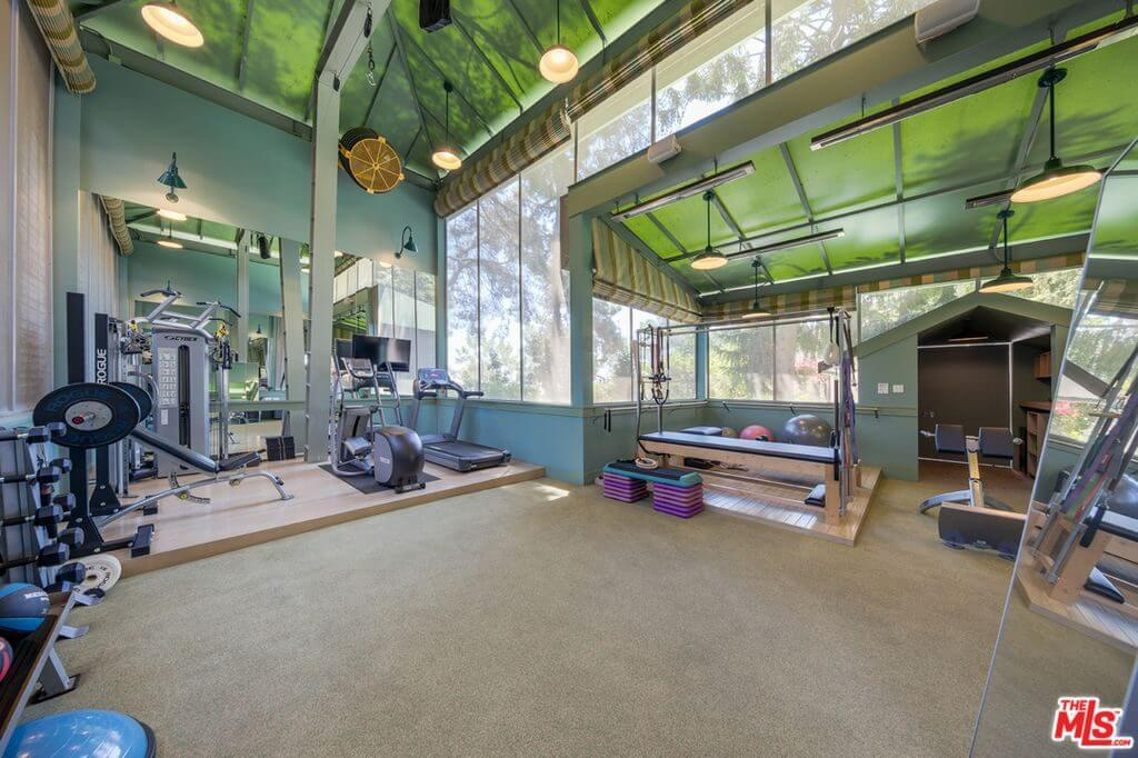 Katy Perry house gym shot on Mulholland