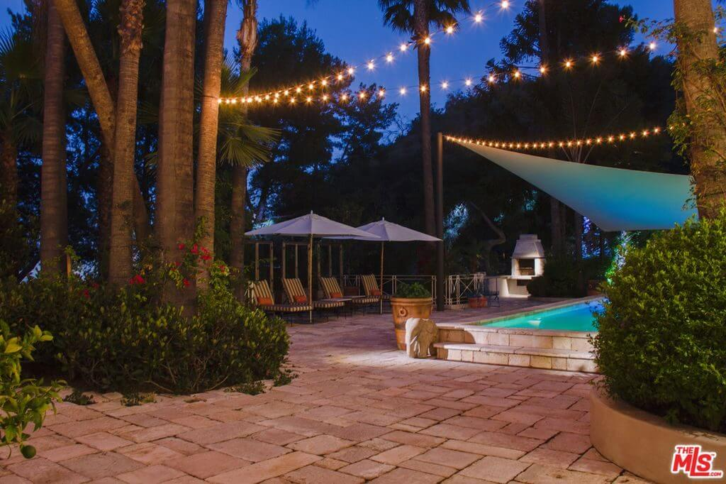 Katy Perry house cabana on Mulholland