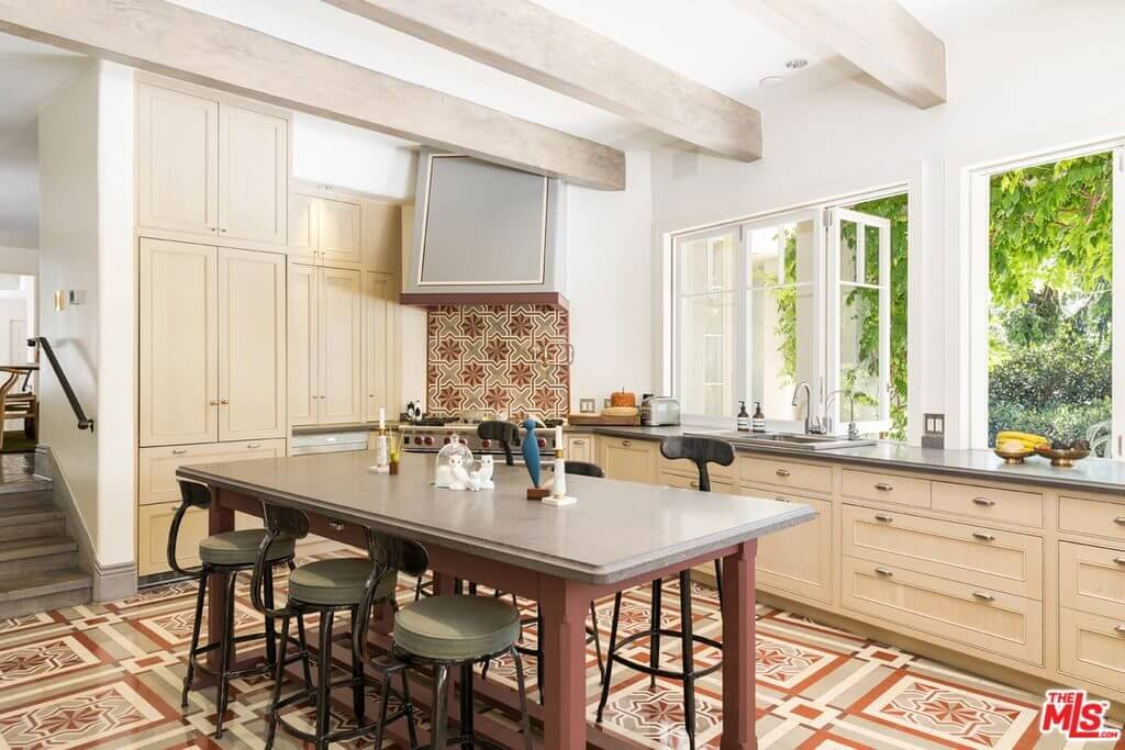 Katy Perry house kitchen on Mulholland